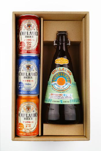 【贈答箱】信州オラホビール 350ml缶×3本 1リットル瓶×1本 (Bセット)