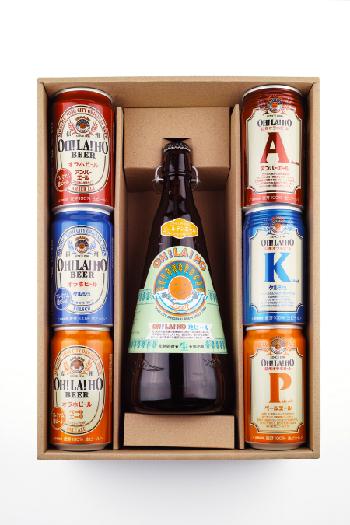 【贈答箱】信州オラホビール 350ml缶×6本 1リットル瓶×1本 (Aセット)